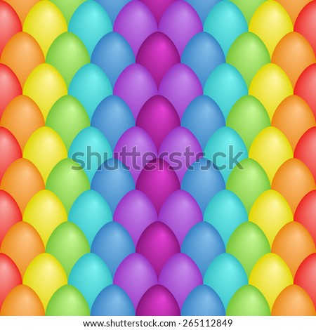 eggs are bright seamless pattern,happy easter eggs - stock vector
