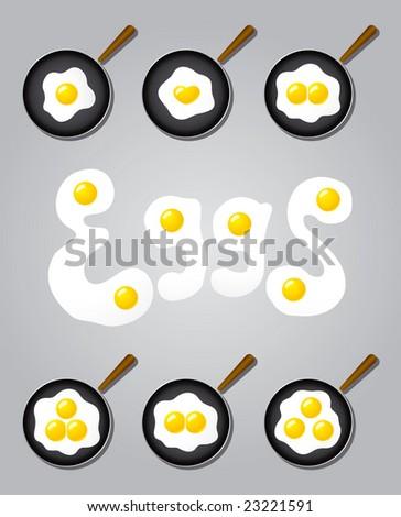 Eggs Cook Vector - stock vector
