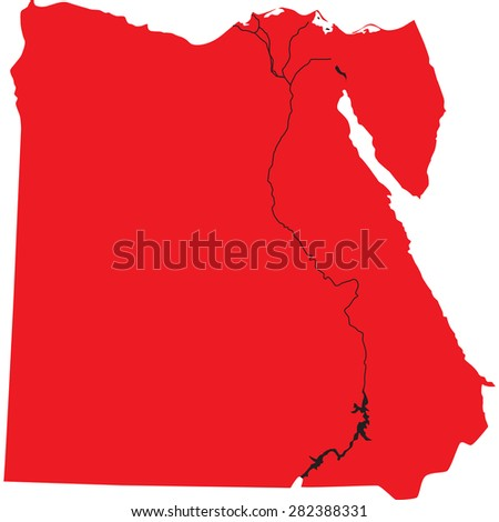 Egypt Map Vector Stock Images RoyaltyFree Images Vectors - Map of egypt vector
