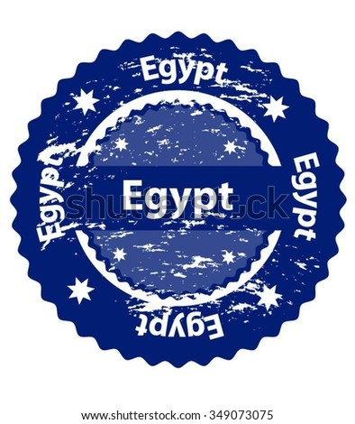 Egypt Country Grunge Stamp - stock vector