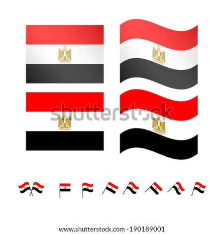 Egypt Flags EPS 10 - stock vector