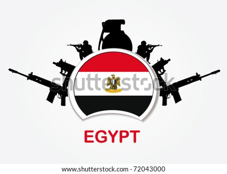 egypt military sign - stock vector