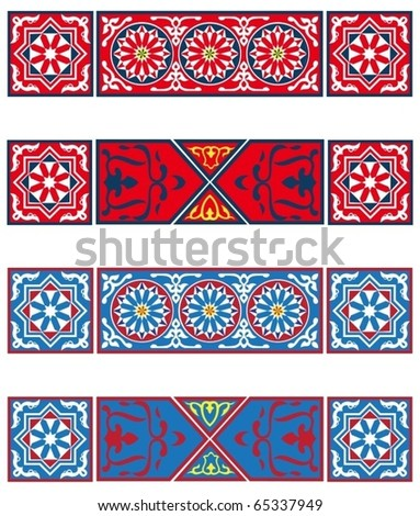 Egyptian Tent Banners-vector - stock vector