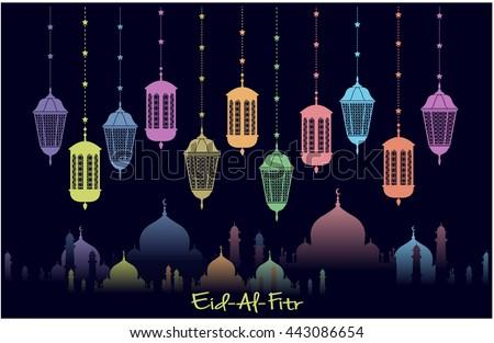 Eid al fitr greeting card background stock vector royalty free eid al fitr greeting card or background ramadan mubarak vector illustration m4hsunfo