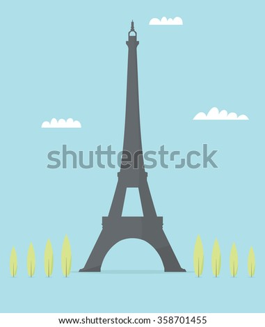 Eiffel Tower - stock vector