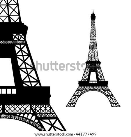 Eiffel tower in Paris - stock vector