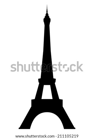 Eiffel tower in Paris. Isolated on white background. Vector EPS10. - stock vector