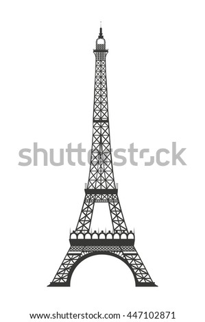 eiffel tower isolated icon design, vector illustration  graphic  - stock vector