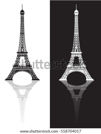 eiffel tower isolated vector illustration it is easy to edit and change