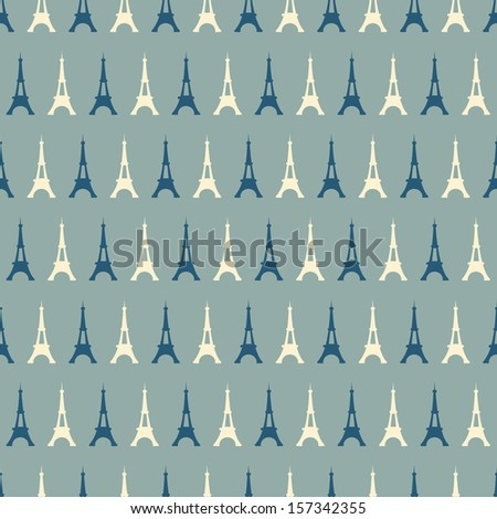 Eiffel Tower seamless pattern