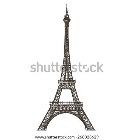Eiffel tower vector logo design template. Paris or France icon. - stock vector