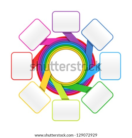 Eight elements circle - colorful presentation or design template. Vector. - stock vector
