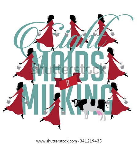Eight Maids aMilking Craft  Parenting Patch
