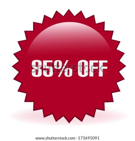 Eighty Five Percent Discount Sticker - stock vector