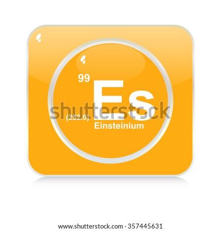 einsteinium chemical element button - stock vector