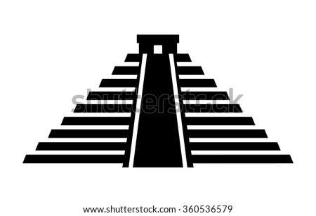 El Castillo pyramid in Chichen Itza flat icon for apps and websites ...