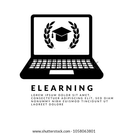 Elearning Vector Icon Simple Vector Illustration Stock Vector