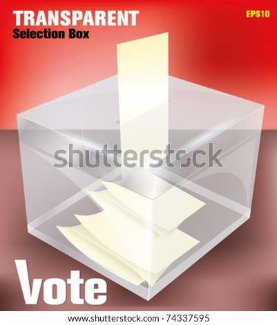election box -transparent - stock vector
