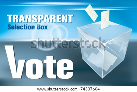 election box -transparent - stock vector