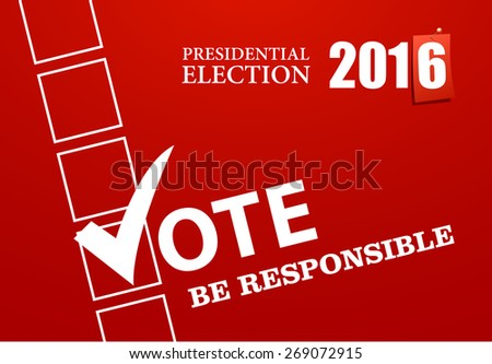 election campaign banner - stock vector