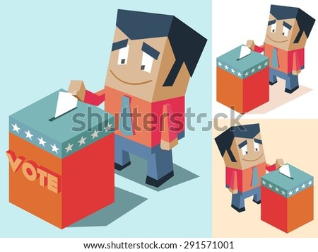 election day set. vector illustration - stock vector