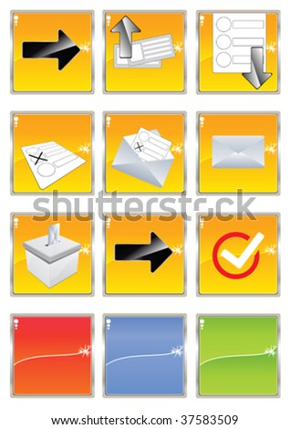 election documents checklist - stock vector