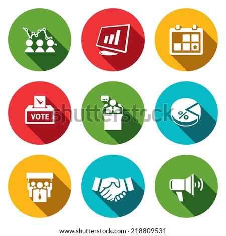 Election flat Icons collection - stock vector