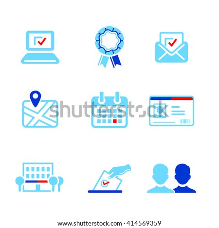 Election or other voting campaign icons - stock vector