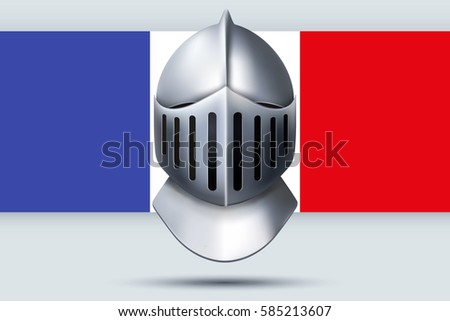 Election Symbol Knight Helmet French Flag Stock Vector 585213607 ...
