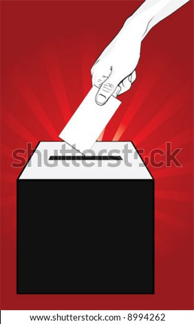Election Vote - stock vector