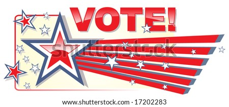 Election. Vote banner. - stock vector