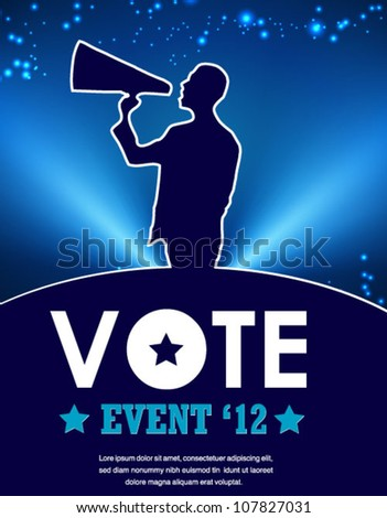 election vote poster - stock vector