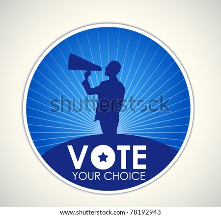 election vote sign - stock vector
