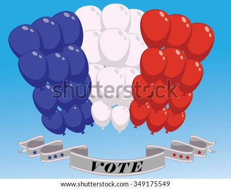 elections  arc of balloons - stock vector