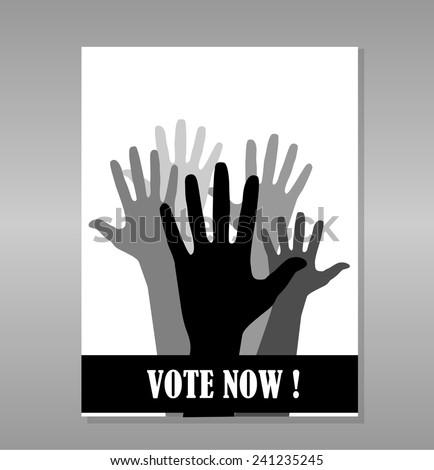 Elections concept vector design  - stock vector