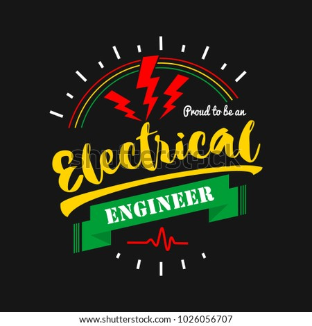 Electric Badge Logo Template Vector Typographic Emblem Jobs T Shirt Design Motivation