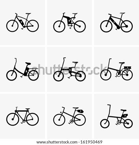 Electric bicycles - stock vector