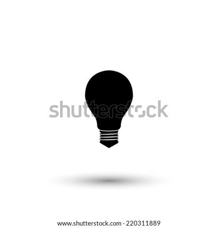 electric bulb icon - black vector illustration - stock vector