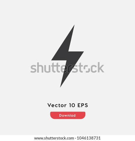 Electricbulb Icon Electricalelectricity Vector Energyelectroniclight
