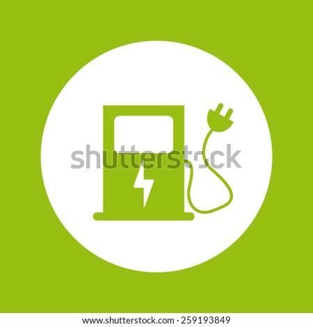 electric car design, vector illustration eps10 graphic - stock vector