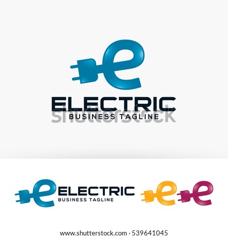 Electric Energy Letter E Power Vector Logo Template