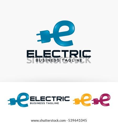 Electric Energy Letter E Power Vector Logo Template