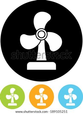 Electric fan vector icon - stock vector