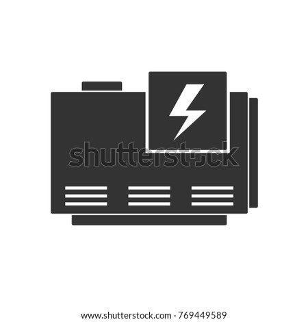 Generator electric home generator vector silhouette isolated on white background voltagebd Image collections