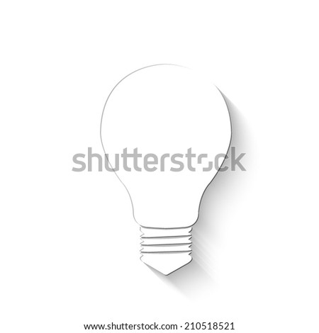 Electric icon - white vector illustration with shadow - stock vector