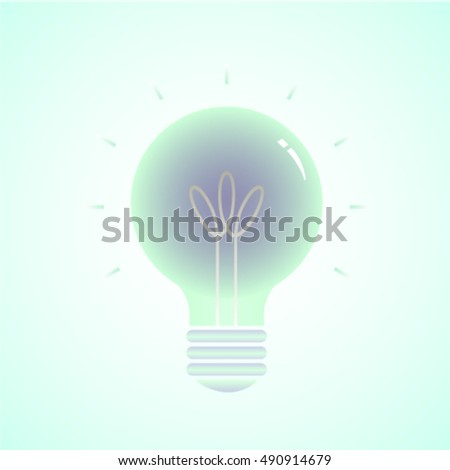 Electric incandescent lamp in green color