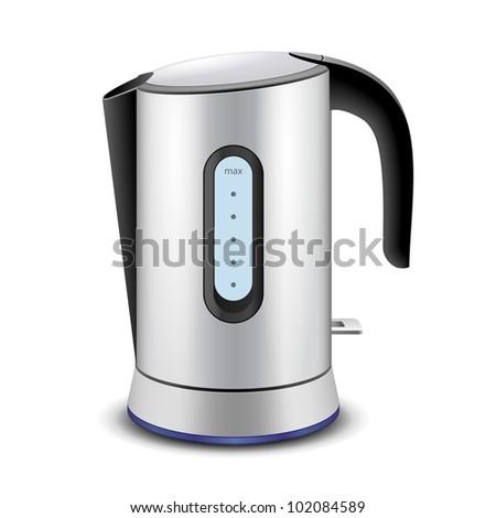 Electric kettle vector - stock vector