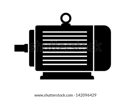 Electric motor icon - stock vector