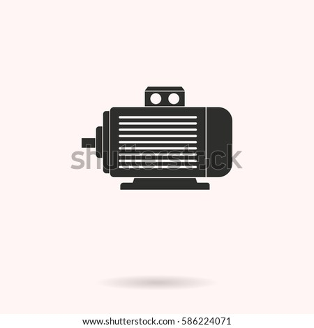 Electric Motor Vector Icons Set Illustration Stock Vector