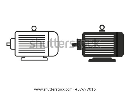 Electric Motor Icon Stock Vector 142096429 Shutterstock